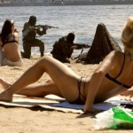 Counter à la plage