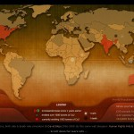 Pollution, naissances et décès dans le monde en temps réel