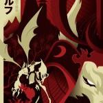 Créez un poster Samurai / Loup-garou en vectoriel