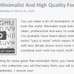 40 polices de caractères minimalistes et gratuites