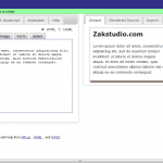 Rendera un moteur HTML 5 wysiwyg