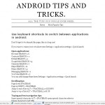 Les raccourcis sur Android
