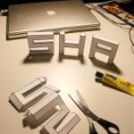 Un police de caractères 3D à imprimer et à découper