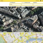 Yell affiche les grandes villes Anglaises en 3d