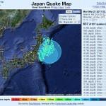 Tous les tremblements de terre au Japon depuis le 11/03/11