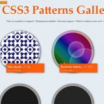Un site sur des patterns de CSS3