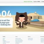 La 404 de Github utilise la force