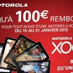 Remboursement de 100€ par Motorola