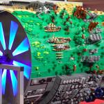 Une roue géante Lego en diorama Star Wars