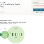 Google Reader va s'arreter, signez pour qu'il soit conservé