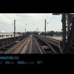Un train en vue à la 1ere personne