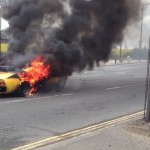 Lamborghini Miura SV en flammes