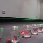 Un laser et des ballons