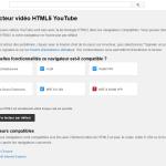 Utiliser le lecteur HTML5 pour Youtube