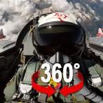 360° cockpit avec la patrouille Suisse