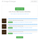 Bigjpg – agrandisseur d'image par réseau neuronal